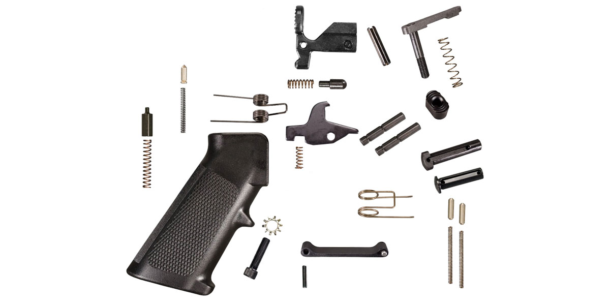 KAK Industries Complete Mil-Spec Lower Parts Kit - Minus Hammer, Trigger and Safety