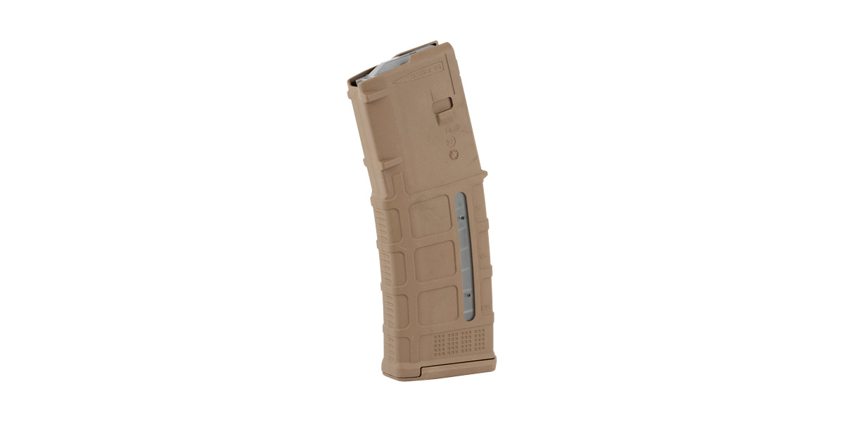 Magpul Industries, Magazine, M3 With Window, 223 Rem/556NATO, 30Rd, Fits AR Rifles, Medium Coyote Tan Finish