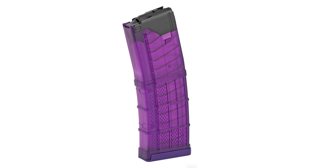 Lancer, Magazine, AR-15 L5 Advanced Warfighter, .223/5.56, 30Rd, Translucent Purple