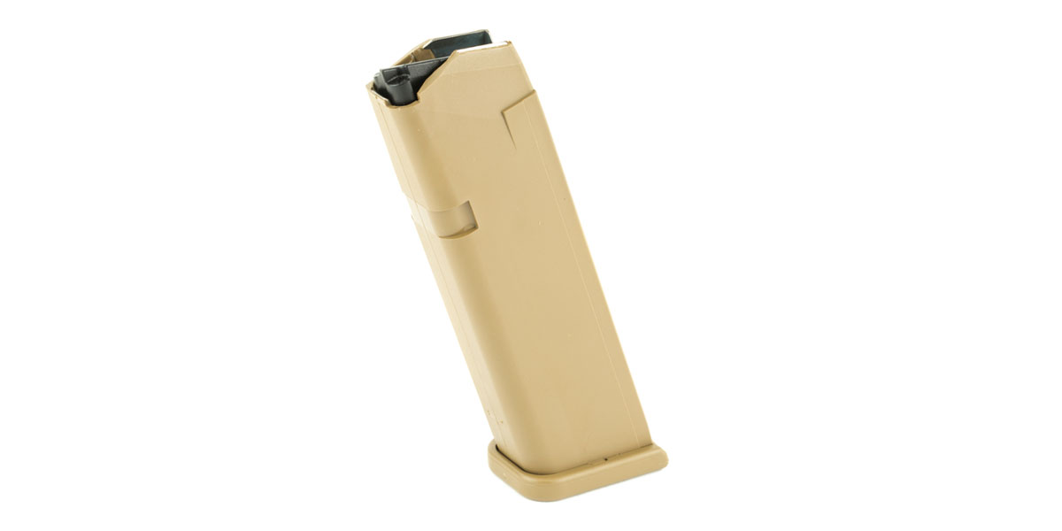Glock Magazine for G19X/G17, Coyote Tan, 17 Round Capacity, 9mm