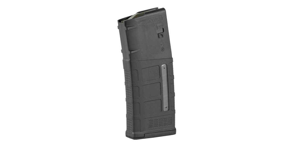 Magpul MAG292-BLK PMAG GEN M3 Window 7.62x51mm NATO AR-10,M110,SR25 25rd Black Detachable with Anti-Tilt Follower & Impact/Dust Cover