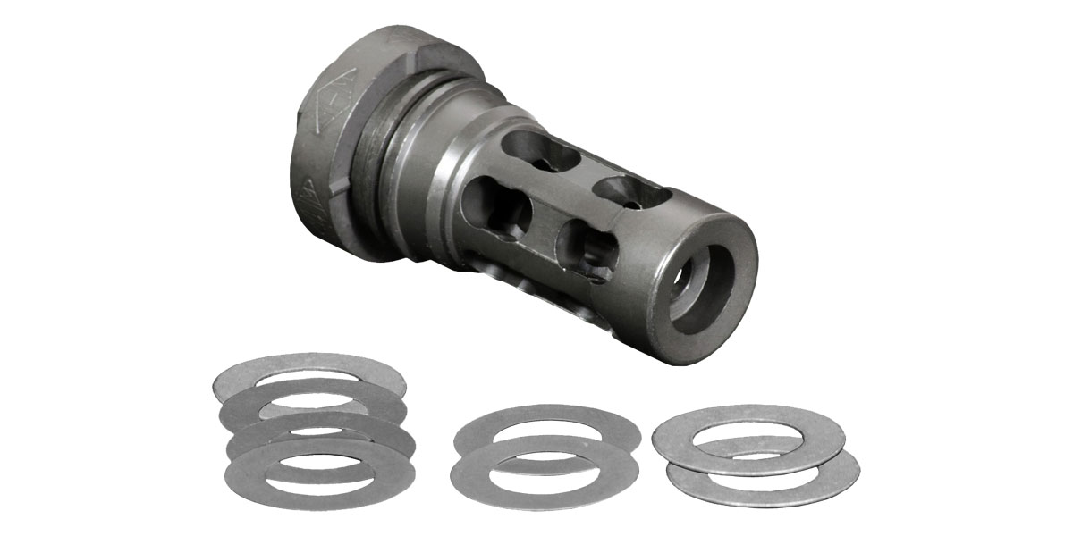 Yankee Hill YHM QD Light Tactical Muzzle Brake, .30 Cal, 5/28x24 TPI, Steel