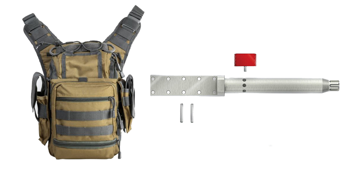 Custom Deal Real Avid AR-15 Lug-Lok Upper Vise Block + VISM First Responders Utility Bag - Tan w/Urban Gray