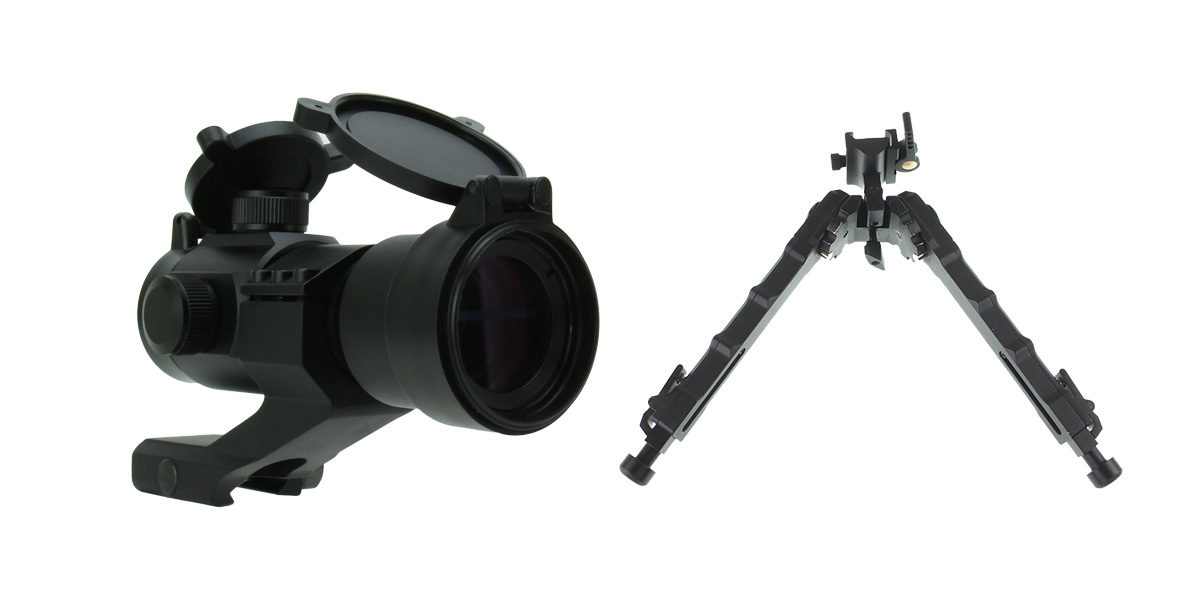 Custom Deal 1X30 DUAL ILLUMINATED RED/GREEN DOT SIGHT WITH CANTILEVER MOUNT + United Defense