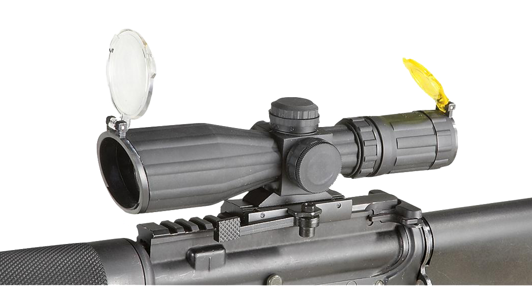Aim Sports 3-9X42 Dual Illuminated Red/Green Armored QRM Scope/Rangefinder
