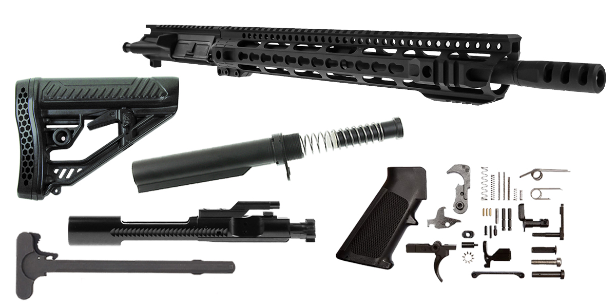 "DD Custom Arms ""Metris"" AR-15 Featuring Aero Precision Upper Receiver 16"" Ultra-Match .450 Bushmaster 1-24T 4150 CMV Heavy Barrel 15"" KeyMod Handguard (Assembled or Unassembled)"