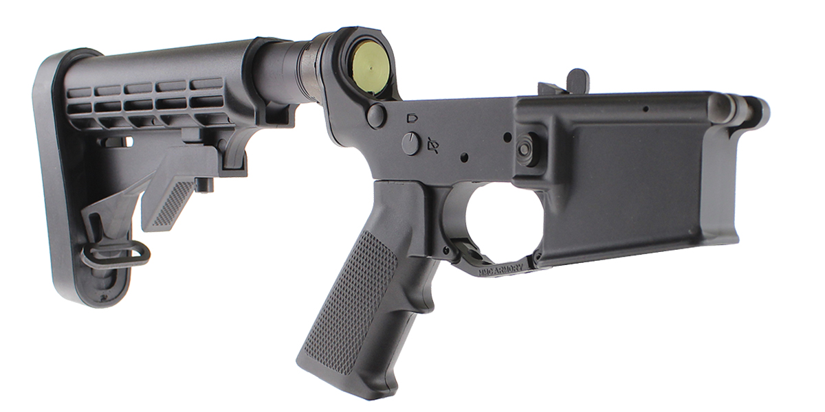 DD Custom Arms AR-15 Rifle Lower Receiver Assembled Kit Featuring MMC Armory MA15 Lower Receiver With MMC LE Collapsible Stock Minus Fire Control Group