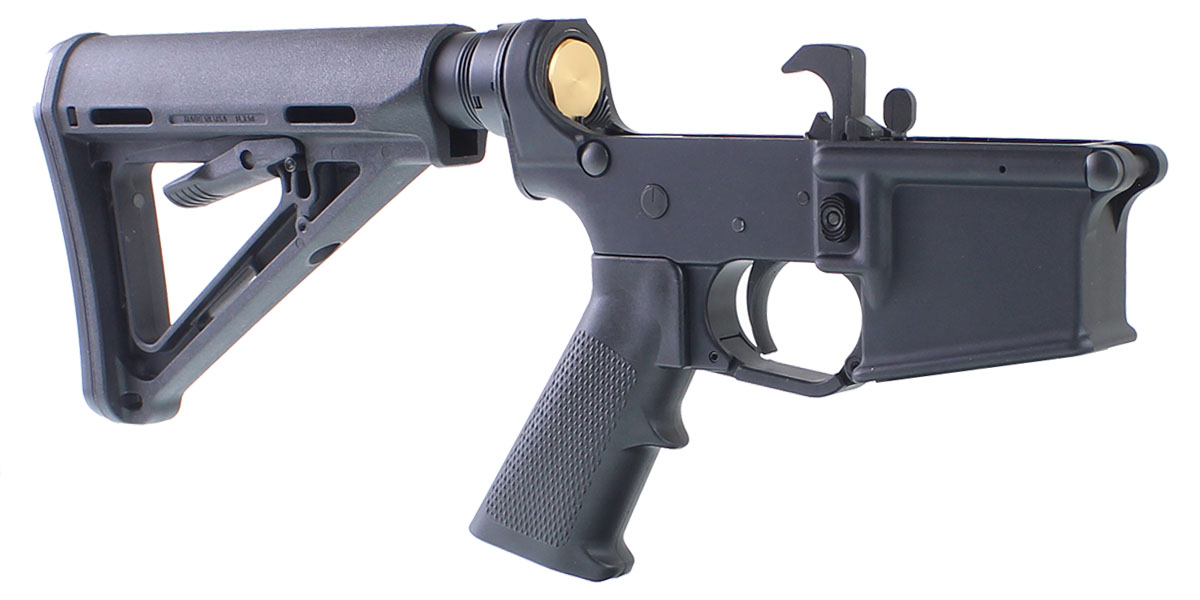 DD Custom Arms AR-15 Rifle Lower Receiver Build Kit Featuring Anderson Manufacturing AR-15 Lower Receiver Magpul MOE Stock KAK Industries LPK (Assembled or Unassembled)