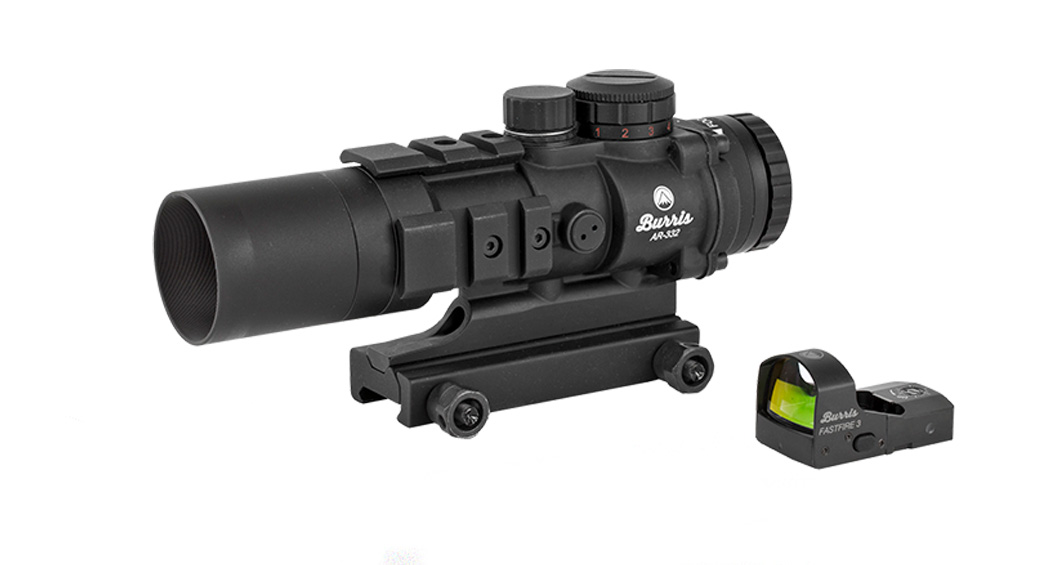 Burris, AR-332, Red Dot, 3X-32mm, Ballistic 3X Illuminated Reticle, Matte Finish, Includes FastFire 3