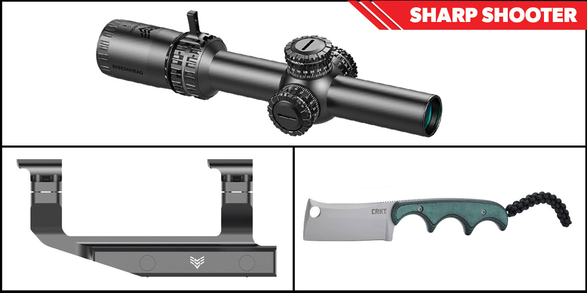 Custom Deal Sharp Shooter Combos: Swampfox Optics Arrowhead 30mm Tube Scope 1-6x24 + CRKT Minimalist Cleaver + Swampfox Optics Independence Mount 30mm