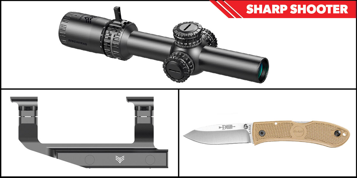 Custom Deal Sharp Shooter Combos: Swampfox Optics Arrowhead LPVO Scope MOA Reticle 1-10x24 + KABAR Hunter Folding Knife 4.25