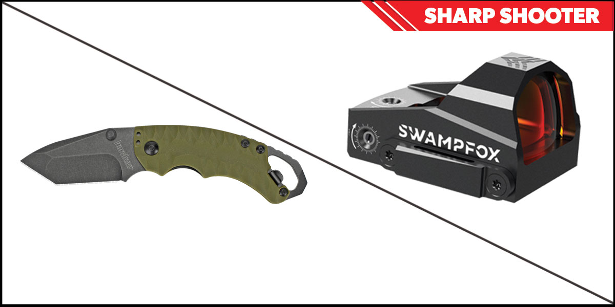 Custom Deal Sharp Shooter Combos: Swampfox Optics Kingslayer Red Dot 1x22 + Kershaw Shuffle II Folding Knife