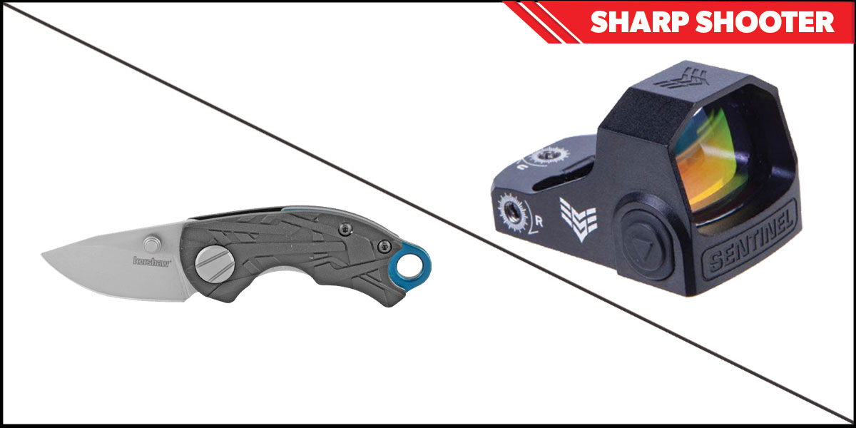 Custom Deal Sharp Shooter Combos: Swampfox Optics Sentinel Red Dot 1x16 Manual Brightness + Kershaw Aftereffect Folding Knife