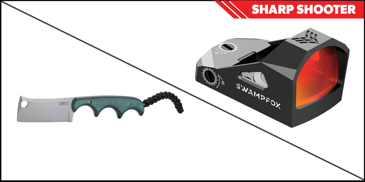 Custom Deal Sharp Shooter Combos: Swampfox Optics Justice Red Dot 1x27 + CRKT Minimalist Cleaver