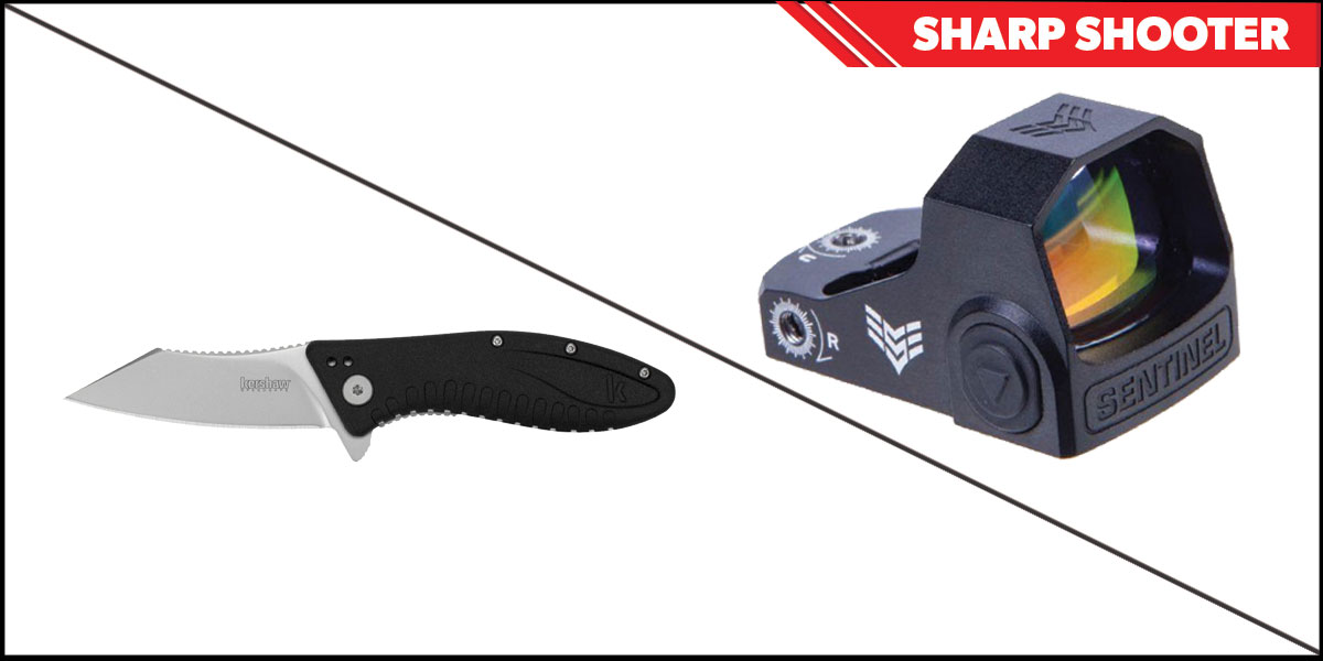 Custom Deal Sharp Shooter Combos: Swampfox Optics Sentinel Red Dot 1x16 Manual Brightness + Kershaw Grinder Folding Knife
