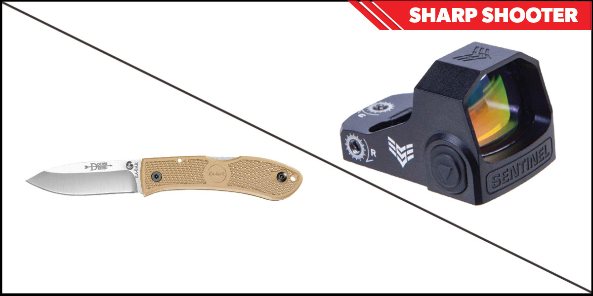 Custom Deal Sharp Shooter Combos: Swampfox Optics Sentinel Red Dot 1x16 Manual Brightness + KABAR Hunter Folding Knife 4.25