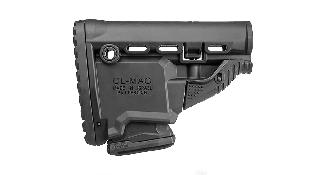 FAB Defense AR-15 Survival Buttstock w/Built-in Mag Carrier - Black
