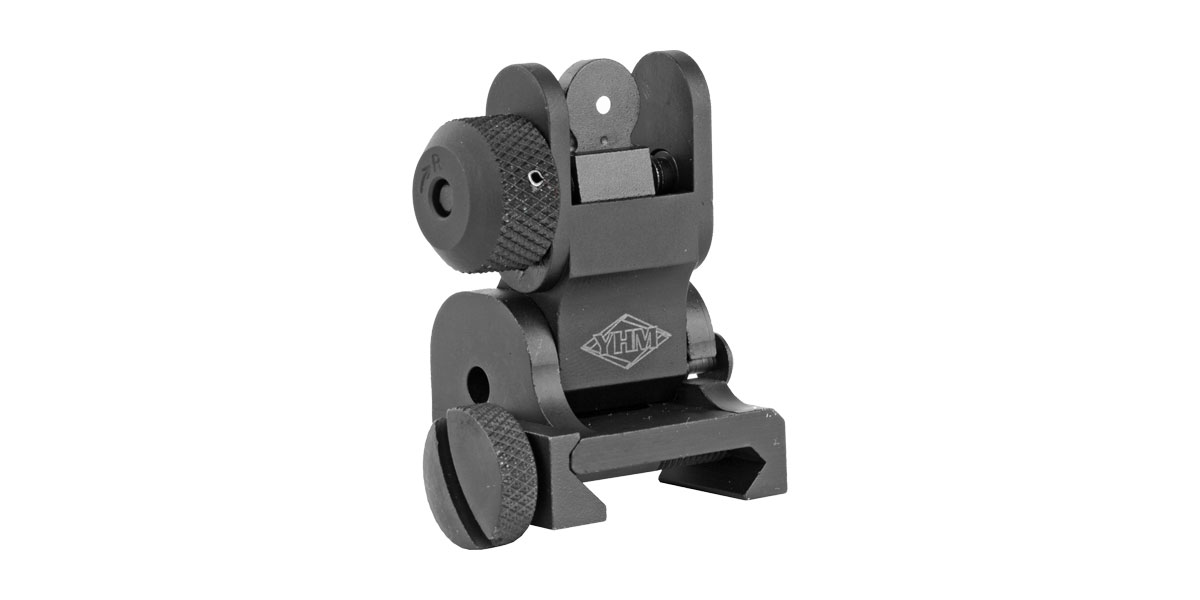 Yankee Hill YHM Flip Up Rear Sight, Black