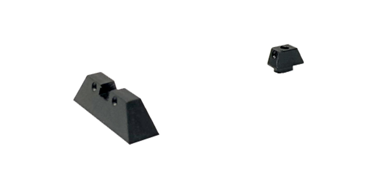 Aluminum Front and Rear Sights for Glock - Black