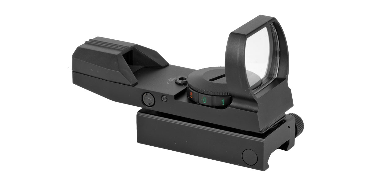 TruGlo Open 1x Magnification, 34mm Objective Lens, 5 MOA Red & Green Dot, Matte Black, Uses CR2032 Lithium Battery