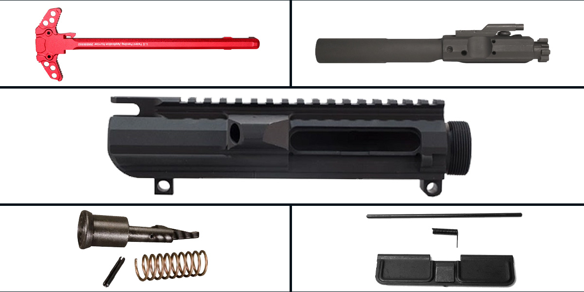 Custom Deal LR-308 Upper Starter Kit Featuring: Davidson Defense LR-308 Low Profile Upper Receiver, Dust Cover, Forward Assist, LR-308 BCG and Charging Handle