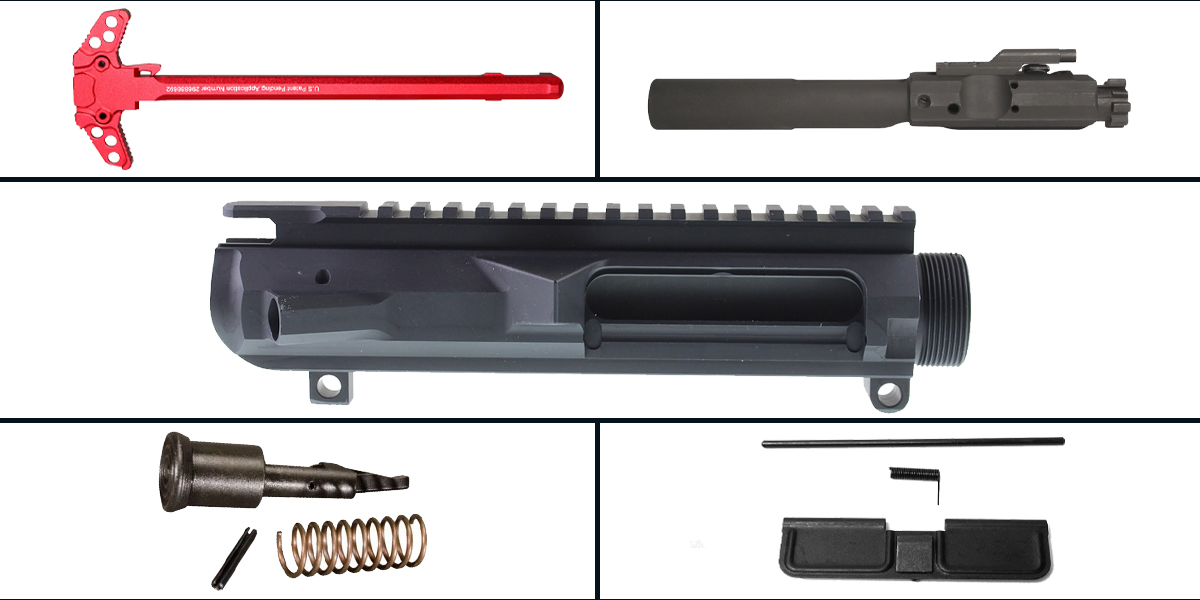 Custom Deal LR-308 Upper Starter Kit Featuring: Guntec LR-308 Low Profile Upper Receiver, Dust Cover, Forward Assist, LR-308 BCG and Charging Handle