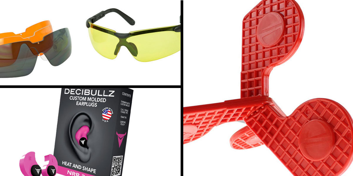 Tactical Gift Box Timber Creek Outdoors 'Jax' Self-Healing Rimfire and Pistol Target + Walker's, Glasses, and Clear Lens Kit + Decibullz Custom Molded Earplugs - Pink
