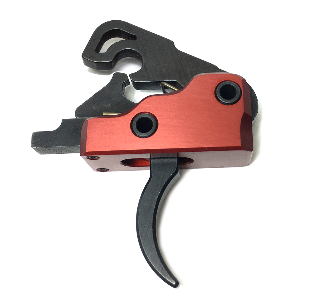 Davidson Defense Ultra Match Skeletonized Deluxe 3.0 lb Drop In Trigger System - Crimson Red (With Skeletonized Speed Hammer)