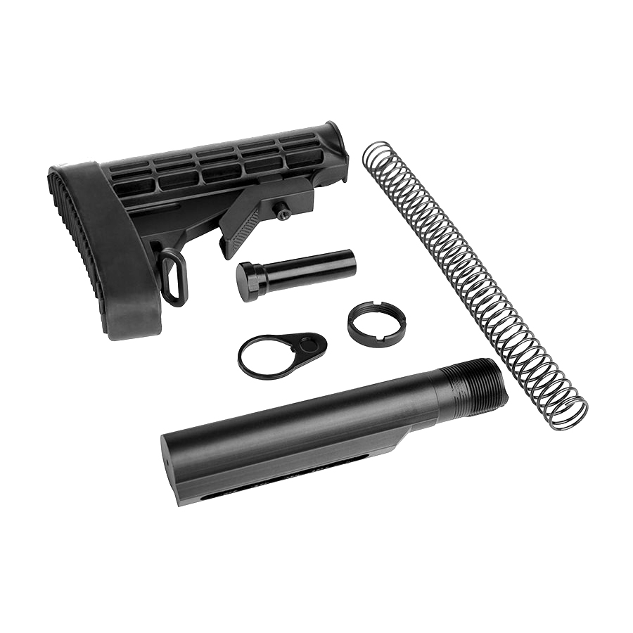 AR-15 Trinity Force  L-E Mil-Spec Buffer Tube & Stock Complete Kit With Recoil Pad