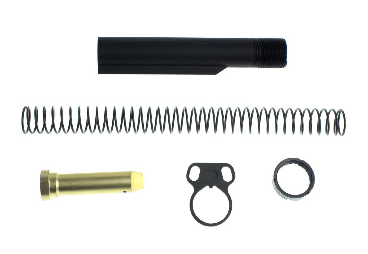 Heavy Duty Mil-Spec Buffer Tube Kit  With Ambi Sling End Plate