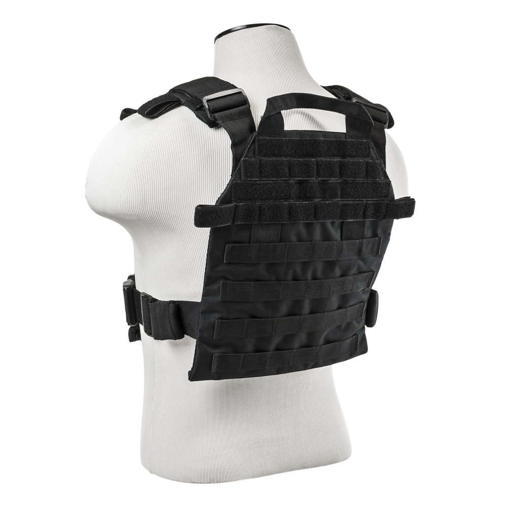 Vism Heavy Duty Plate Carrier Vest W/ Molle Straps With Ballistic Level IIIA Soft Armor Plate.  Stops .44 Mag & More  (Amazing Deal !!)