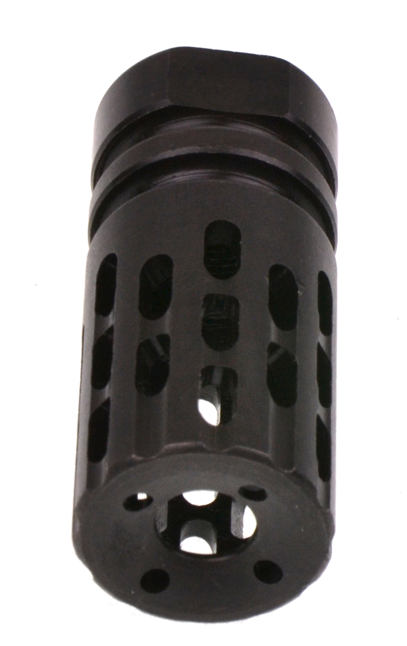 Recoil Technologies Extreme Comp & Flash Hider 13-Ported Helical Muzzle Brake Black 5/8