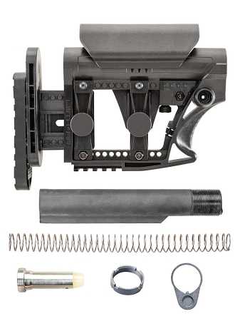 LUTH-AR MBA-3 Carbine Buttstock & Mil-Spec Buffer Tube Kit Assembly **For Ar-15 Rifle**