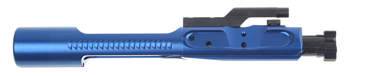 3 Gun Labs Inc. Ar-15 LMB Low Mass Aluminum 5.56 Nato .223 Rem 300 Blackout (BCG) Bolt Carrier Group **Very Durable Plasma Finish- Blue**  Only 5.9 Oz Designed For 3 Gun Competition