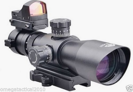 Precision Tactical 3-9X42 Rifle Scope & Micro Red Dot Sight - Fits S&W Mossberg