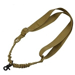 AR-15 One Point Tactical Bungee Sling With HK Clips - FDE / Tan