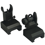 Omega Manufacturing Premium Flip-Up Sight Set– Fits all Picatinny Rails and Flat Tops