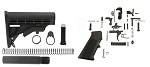 Trinity Force LE/MIL Stock & Tactical Superiority Ar-15 Lower Parts Kit Combo Comes With Free Recoil Pad