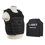 VISM Tactical Body Armor MOLLE Expert Plate Carrier Vest with Front & Rear IIIA Ballistic Panels **Pick Your Color**  Stops All Pistol Calibers Up To 500 S&W & 7H21 (7N21) Armor Piercing