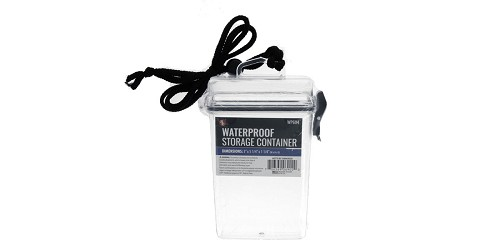 SE Clear Waterproof Storage Container With Lanyard