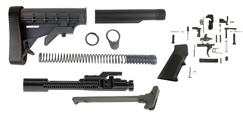Omega Mfg. LE Stock AR-15 Finish Your Rifle Kit 6.5 Grendel