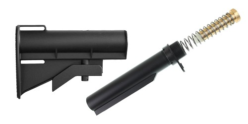 United Defense AR-15 CAR-15 Stock + Omega Mfg. Mil-Spec Standard Buffer Tube Kit