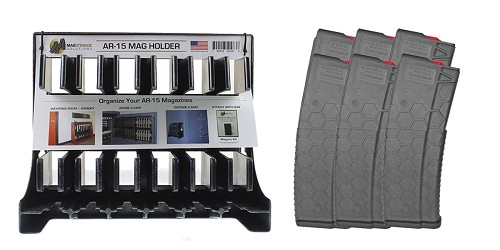 Custom Deal MagStorage Solutions AR-15 Magazine Holder + HEXMAG, .223 Remington/5.56 NATO, 30Rd Magazine - 6 Pack