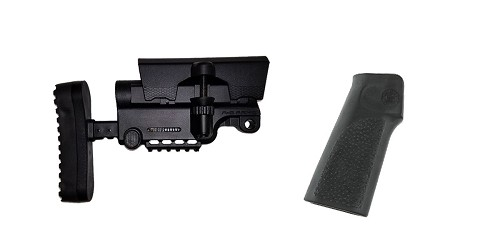 Combo Deal Stock and Pistol Grip Furniture Set: Featuring A*B Arms + Hogue