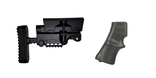 Combo Deal Stock and Pistol Grip Furniture Set: Featuring A*B Arms + A*B Arms
