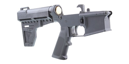 DD Custom Arms AR-15 Pistol Lower Receiver Build Kit Featuring An Anderson Lower Receiver KAK Industries Shockwave Brace KAK Industries LPK (Assembled or Unassembled)