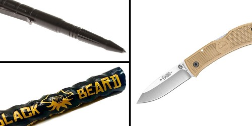Tactical Gift Box KABAR, Dozier, Hunter 4.25 Folding Knife + Tactical Pen + Black Beard Fire Starters
